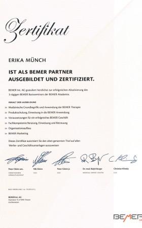 Zertifikat Bemer Partner – Erika Münch