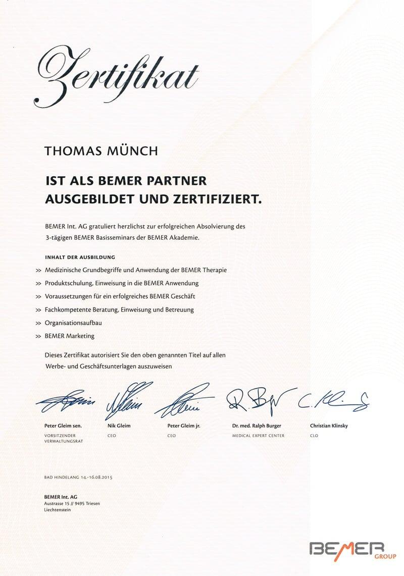 erfolgreiche ausbildung amp zertifizierung als bemerpartner